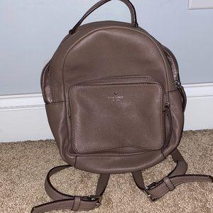 Mini Kate Spade tan backpack